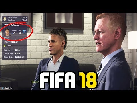 SIGNING NEYMAR IN FIFA 18 CAREER MODE!!! - FIFA 18 Experiment