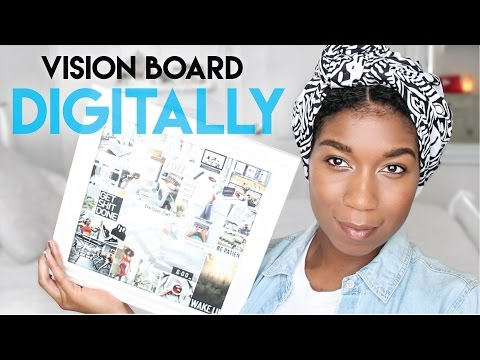 Make a Digital Vision Board With Me! Step By Step Instructions