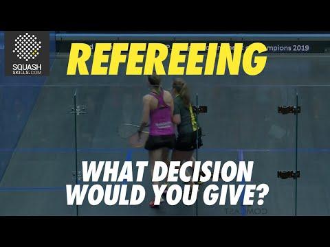 Squash Refereeing: Alison Waters v Tesni Evans - No let