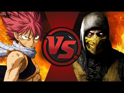 NATSU vs SCORPION! (Fairy Tail vs Mortal Kombat) Cartoon Fight Club Bonus Episode 8