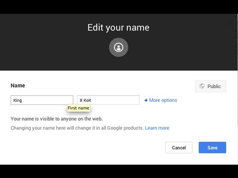 how to change google plus name