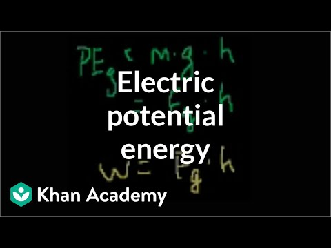 Electric Potential Energy Video Khan Academy