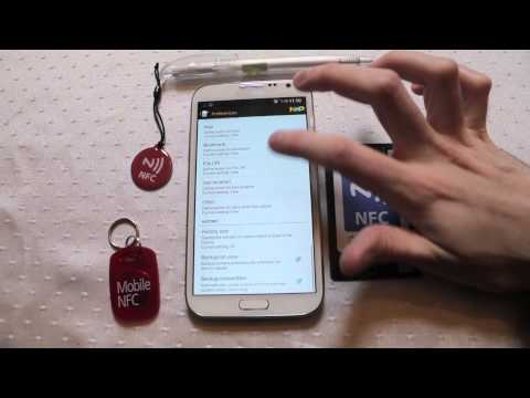 NFC Samsung Galaxy Note 2 Near Field Communication demonstration Androidizen