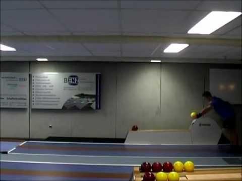 Fabian Seitz beim Techniktraining (Kegeln)