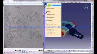 Catia V5 Tutorial|Product Engineering Design|How to Create Knuckle Joint(Easy Steps Beginners)|P2