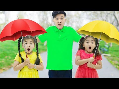 Rain Rain Go Away Song | Suri & Annie Sing-Along Nursery Rhymes & Kid Songs