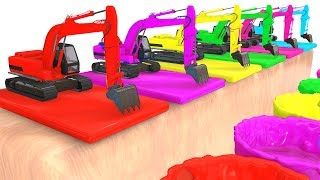 Video Colors For Children and Fun Excavator 3D Cars Superheroes for Kids w Learning Colors MP3, 3GP, MP4, WEBM, AVI, FLV Juli 2017