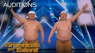 Yumbo Dump Comedic Duo Makes Unbelievable Sounds With Their Bodies - Americas Got Talent 2018