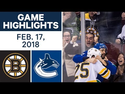 Video: NHL Game Highlights | Bruins vs. Canucks - Feb. 17, 2018