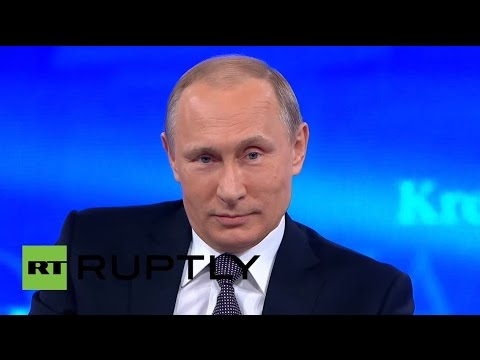 Putin delivers annual Q&A in Moscow - ENGLISH