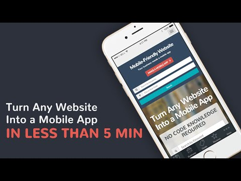 How to Turn a Website into a Mobile App (видео)