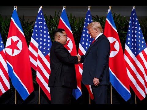 """SINGAPUR: Trump bezeichnet das historisches Treffen mit Kim als """"sehr gut"""""""