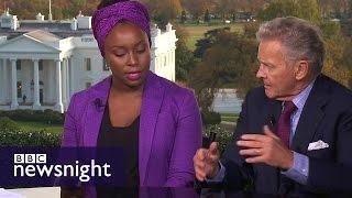 Video Is Donald Trump racist? Chimamanda Ngozi Adichie v R Emmett Tyrrell - BBC Newsnight MP3, 3GP, MP4, WEBM, AVI, FLV Juli 2018