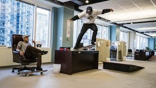 Skateboarders Take Over A Chicago Office Space