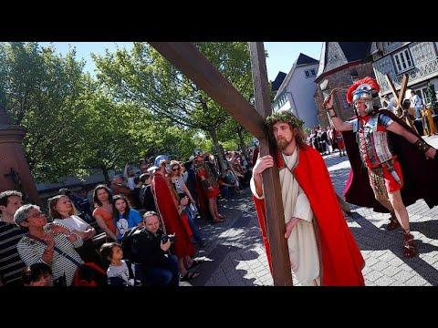 Passionsspiele an Karfreitag: Jesus in Bensheim
