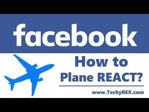 (How to Plane React on Facebook Post?   Facebook Plane Reaction BUG)