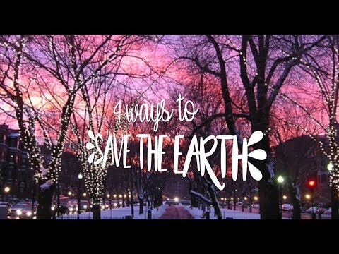 4 Ways To Save The Environment !