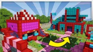 •️ Huge BOUNCY CASTLE KINGDOM in Minecraft!