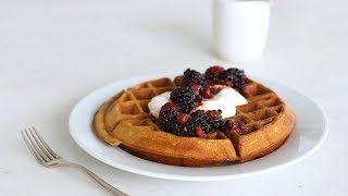 Whole-Wheat Waffles with Yogurt and Berries- Healthy Appetite with Shira Bocar by Everyday Food