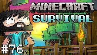 Minecraft : Survival Let's Play w/ Thinknoodles - Part 76 - Wither Skeleton Farm Construction