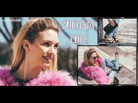 Fuchsia Fur Outfit   The Fashion Screen