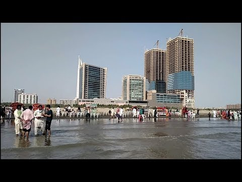 Clifton' 4K. Karachi enjoys The Moments Karachi Pakistan