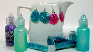 DIY Glitter Glue Earrings! - YouTube