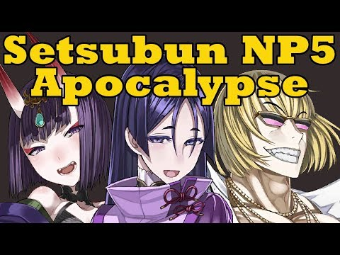 MONEY THE WASTING: Setsubun Triple NP5 Apocalypse - FGO Shuten, Raikou, and Kintoki Rolls