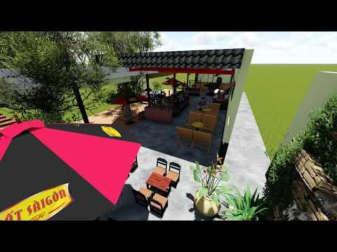 Thiết kế cafe sân vườn máy lạnh