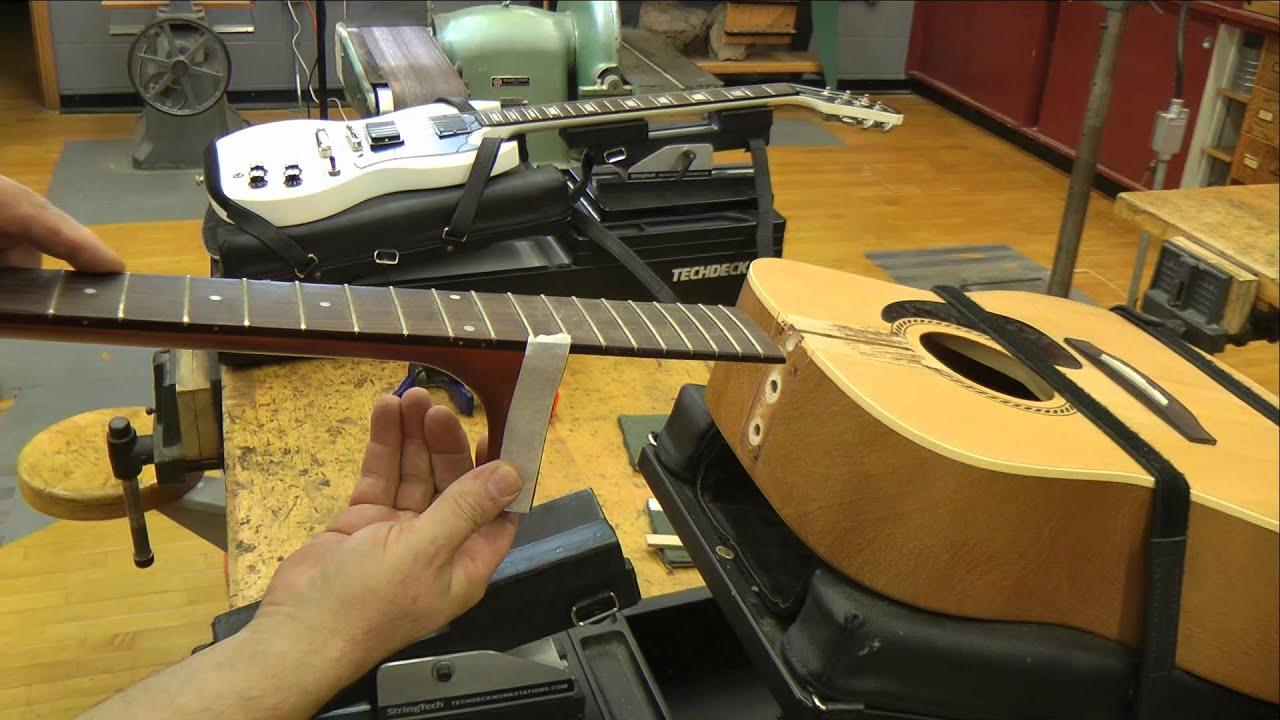 Acoustic Guitar Neck Re-set  / www. techdeckworkstations.com