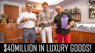 Video $40MILLION IN LUXURY GOODS! (WATCHES, DIAMONDS & PICASSO!) MP3, 3GP, MP4, WEBM, AVI, FLV November 2018