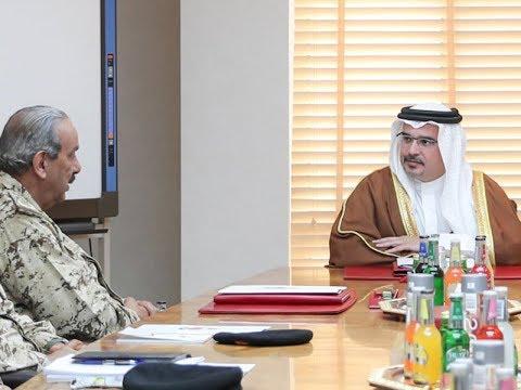 سمو ولي العهد يزور القيادة العامة لقوة دفاع البحرين