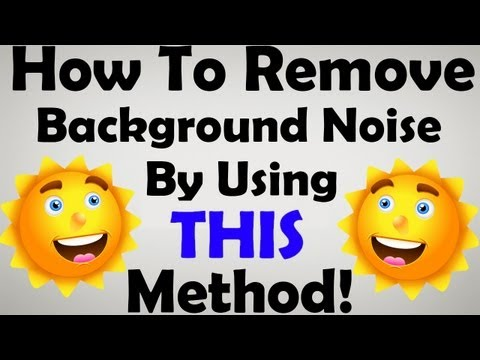 how to isolate background noise in audacity