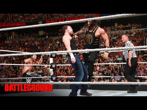 Dean Ambrose Vs Roman Reigns Vs Seth Rollins - WWE Title Triple Threat Match: WWE Battleground 2016