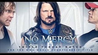 AJ STYLES, JOHN CENA & DEAN AMBROSE - TRIPLE THREAT - NO MERCY - WORLD CHAMPIONSHIP [WWE 2K16]