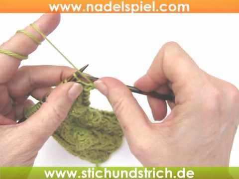 """Zopfmuster mit Noppen stricken * Für Strickmütze """"Lady Gaga"""" Beanie * Knitting Cable, Aran"""
