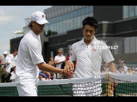 Kei Nishikori V Andreas Seppi Highlights 3RD ROUND Wimbledon