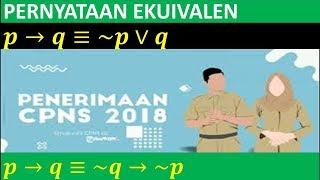 Download Video Materi Latihan Soal CPNS 2018 TIU - PERNYATAAN EKUIVALEN MP3 3GP MP4