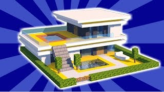Minecraft: How to Build a Small & Easy Modern House - Tutorial (#5)