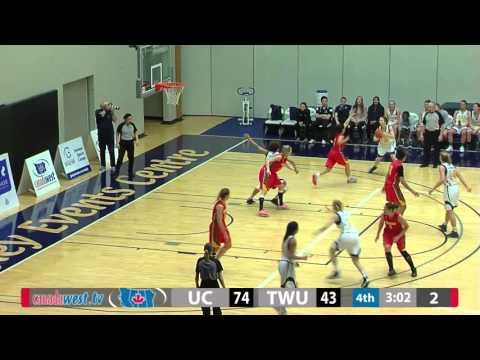 2016-01-22 TWU Women's Basketball Highlights vs Calgary