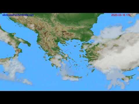Cloud forecast Greece // modelrun: 12h UTC 2020-03-15