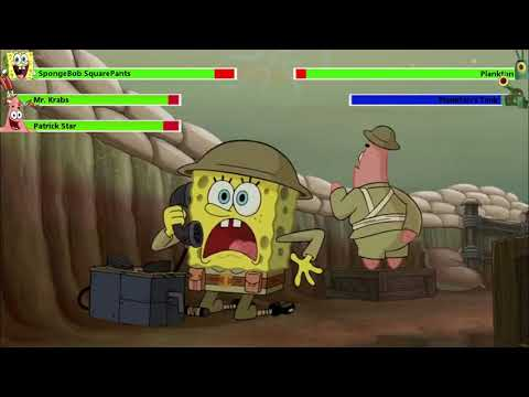 The SpongeBob Movie: Sponge Out of Water Food Fight with healthbars