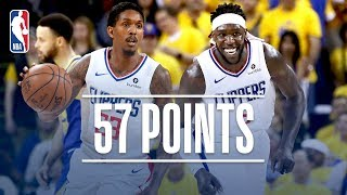 Lou Williams & Montrezl Harrell Come Up BIG Off the Bench! | April 24, 2019 by NBA