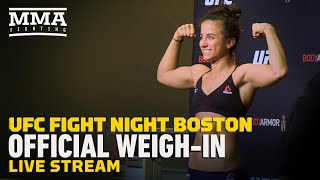 UFC Boston Official Weigh-Ins Live Stream by MMA Fighting