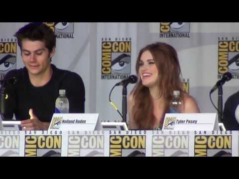 """What was it like to kiss Dylan O'Brian?"" at the Teen Wolf panel SDCC 2013"
