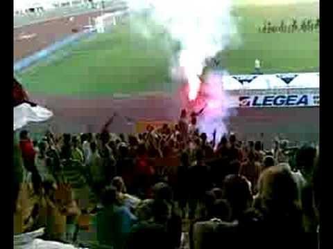 Presentación del plantel Livorno 2008-2009 en el estadio Armando Picchi