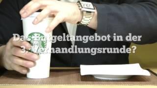 Kaffeegenuss bei Starbucks Deutschland made by Mindestlohn? Das ist für uns nur kalter Kaffee! Auch Starbucks blockiert die Tarifverhandlungen für rund 100.000 Beschäftigte in der Systemgastronomie. Zudem plant das Unternehmen den Einsatz von Streikbrechern aus anderen europäischen Gesellschaften. Ein klares Foul! Wir fordern 6 % mehr! Warnstreiks gehen weiter! Mit Systemern zum Erfolg NGG Gewerkschaft Nahrung-Genuss-Gaststätten