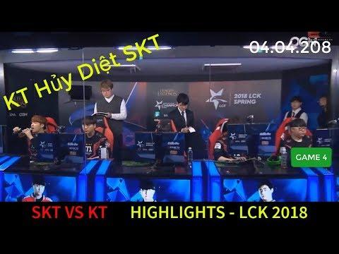 Highlight SKT vs KT LCK 2018 Game 4 | KT Hủy Diệt Khiến Kkoma Ôm Hận