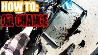 10. HOW TO: Oil Change On Suzuki VS1400 Intruder