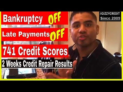 0 Credit Repair: 741 Fico Scores after Late Payments off, Bankruptcy off in 2 weeks=RESULTS